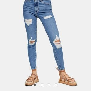 Topshop Super Ripped Jamie Jeans